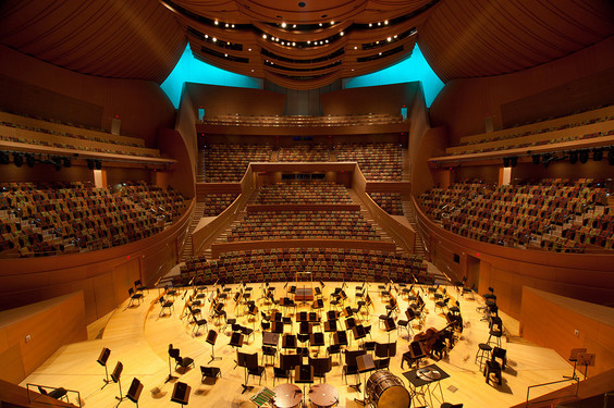 A View Of The Walt Disney Concert Hall Auditorium As Seen From Balcony Seating Section